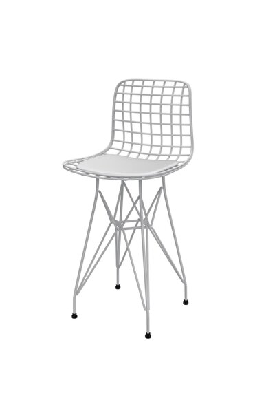 Ufak Boy Tel Bar Sandalyesi 1 Li Uslu Byzbyz 55 cm Oturma Yüksekliği Knsz