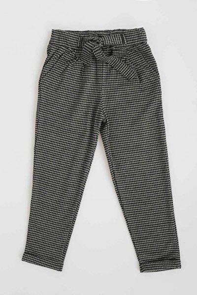 Kız Çocuk Yeşil Ekose Desenli Pantolon 357374