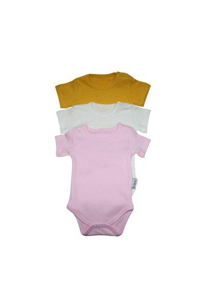 Kız Bebek Düz Renk 3'L�� Paket Pamuk Zıbın