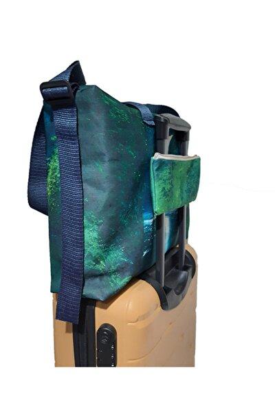 Askılı Yeşil Kabin Boy Seyahat Çantası Bavul Üstü Taşıma