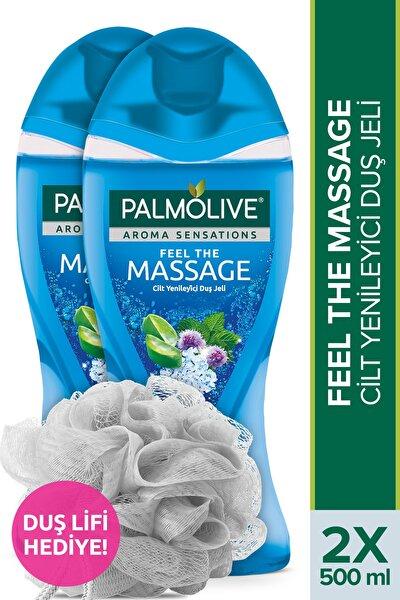 Aroma Sensations Feel The Massage Cilt Yenileyici Banyo ve Duş Jeli 500 ml x 2 + Duş Lifi Hediye