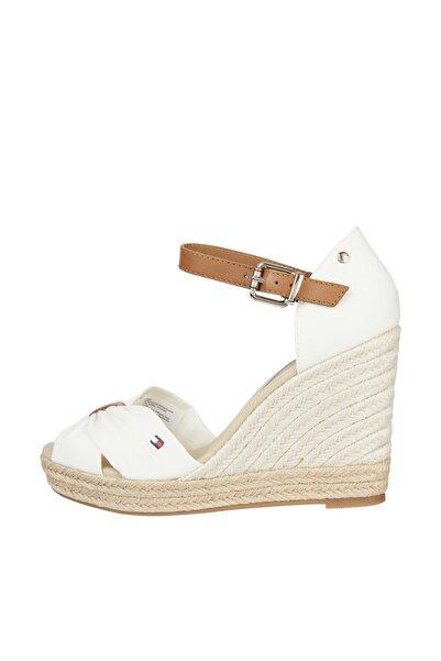 Kadın Beyaz Terlik Basıc Open Toe Hıgh Wedge FW0FW04784