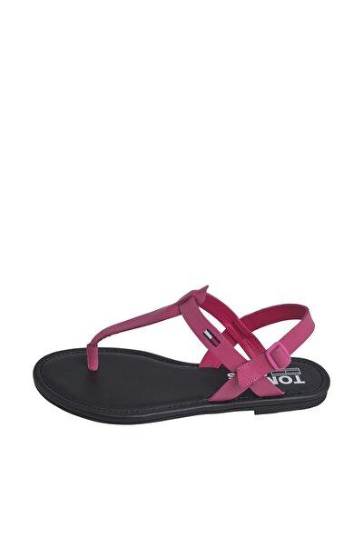 Kadın Kırmızı Sandalet Color Block Basıc Thong Sandal EN0EN00908