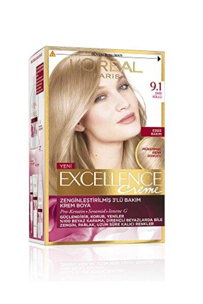 Saç Boyası - Excellence Creme 9.1 Küllü Sarı 8690595357218