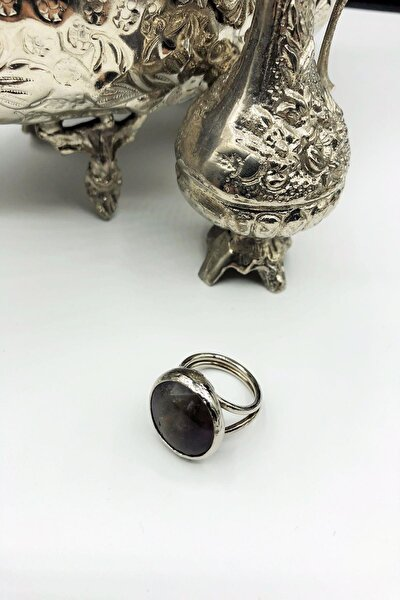 Dr Stone Harem Koleksiyonu Ametist Taşı El Yapımı 925 Ayar Gümüş Set Ahl86
