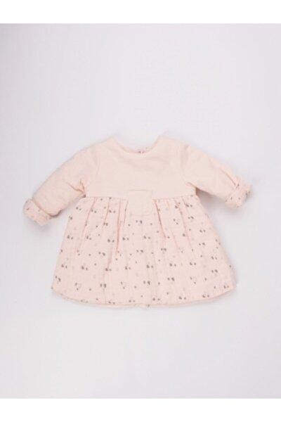 Bebek Uni Puff Somon Rengi Pamuklu Elbise