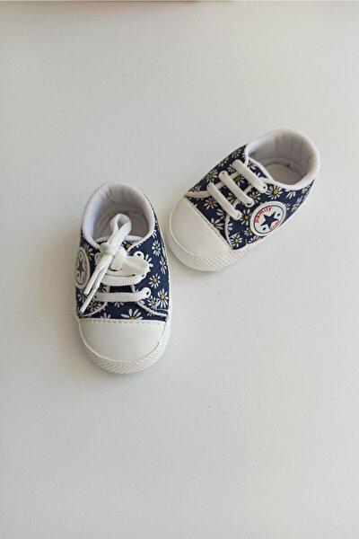Unisex Bebek Mavi Ilk Adım Ayakkabısı