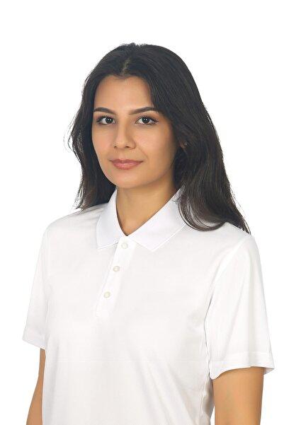 Kadın Beyaz Polo Yaka Forma Tişört