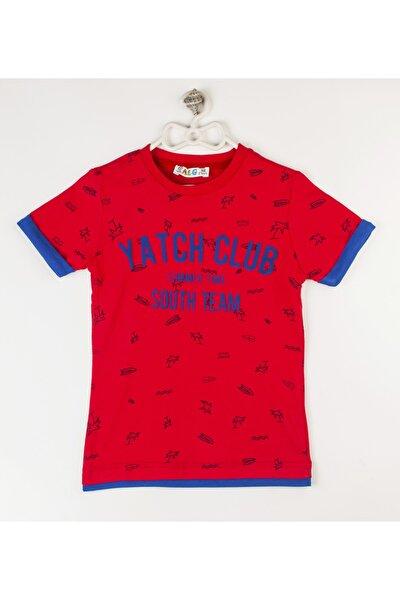 Erkek Çocuk Kırmızı Baskılı T-shirt
