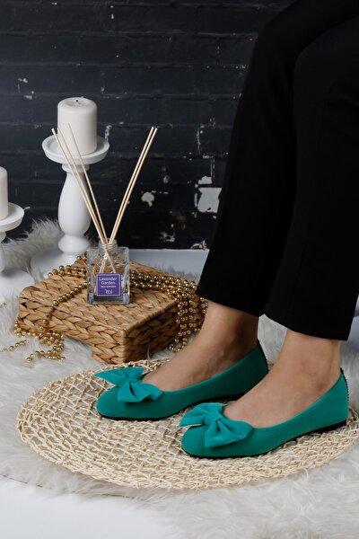 Suyeşili Kadın Ev Babeti Rahat Günlük Ayakkabı