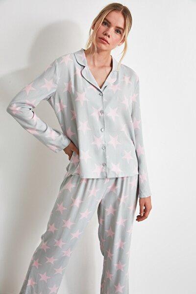 Yıldızlı Dokuma Pijama Takımı THMAW21PT0173