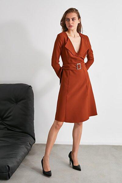 Kahverengi Kemerli Elbise TWOAW21EL0481
