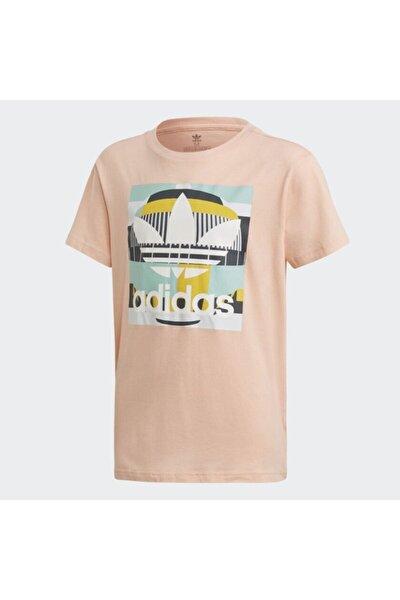 Erkek Çocuk Pembe Önü Baskılı T-shirt  d7861 Tee