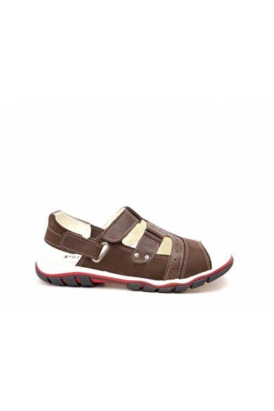 Erkek Çocuk Kahverengi Hakiki Deri Sandalet