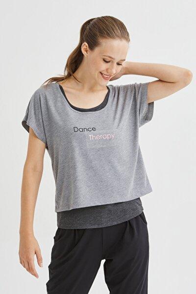 Antrasit Double Dance Tişört