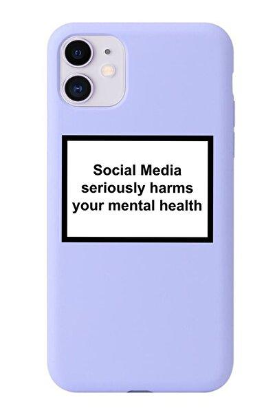 Galaxy A30 Social Media Lila Premium Telefon Kılıfı