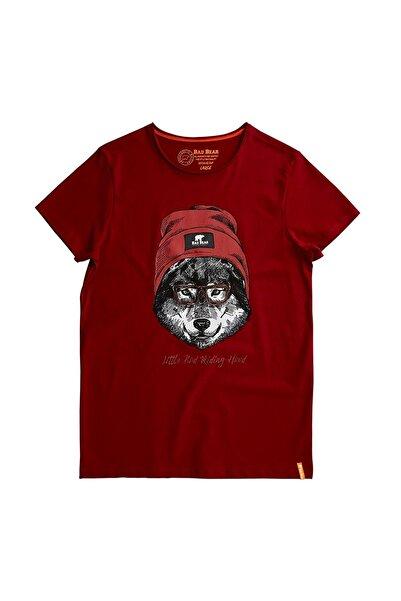 Bordo Erkek Tişört RED HOOD TEE MAROON