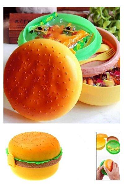 Hamburger Görünümlü Beslenme Saklama Kabı