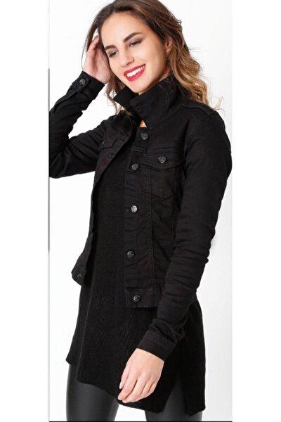 Kadın Siyah Kısa Kot Ceket