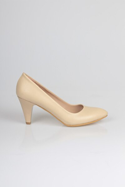Kadın Bej Topuklu Ayakkabı
