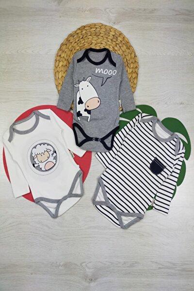 Erkek Bebek 3 Parça Body Set