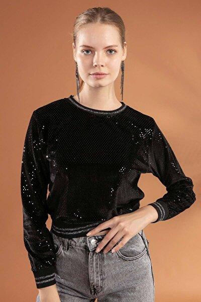 Kadın Beli Lastikli Sweatshirt F131