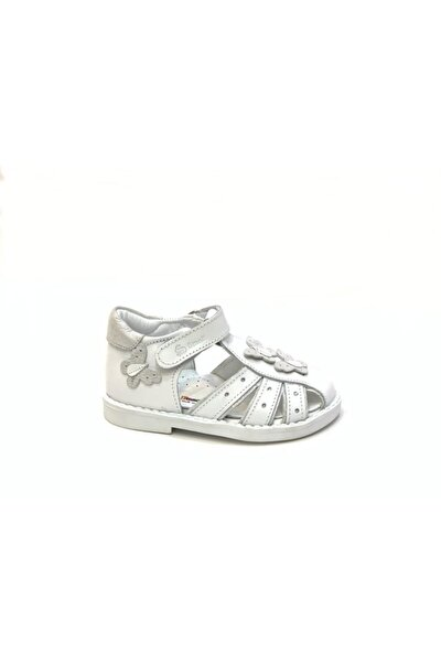 Kız Çocuk Beyaz Ortopedik Hakiki Deri Günlük Ayakkabı 2309
