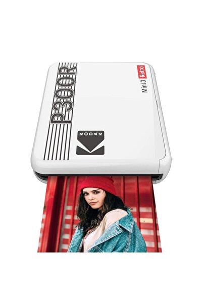 Mini 3 Retro Akıllı Telefon Fotoğraf Yazıcısı - Beyaz