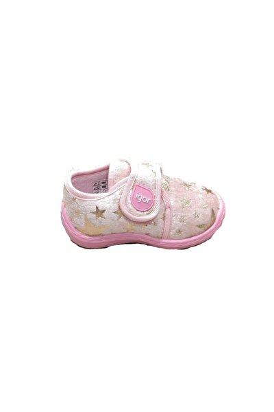 Kız Bebek Pembe Spor Panduf Okul Ev Ayakkabısı W20118