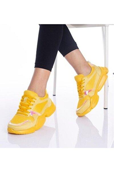 Kadın Sarı  Günlük Spor Ayakkabı