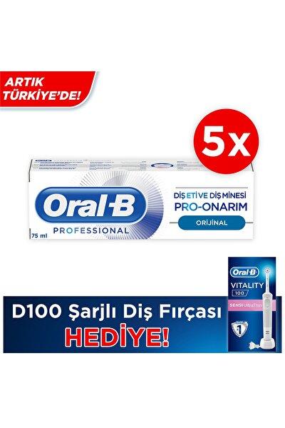 5 Adet * 75ml Pro Onarım Diş Macunu + D100 Vitality Ultra Thin Şarjlı Diş Fırçası