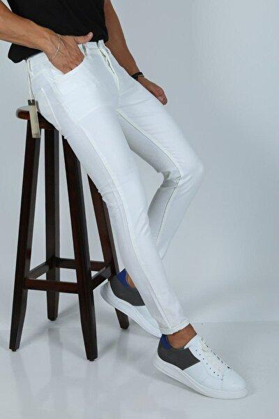 Erkek Beyaz Kot Pantolon 2548