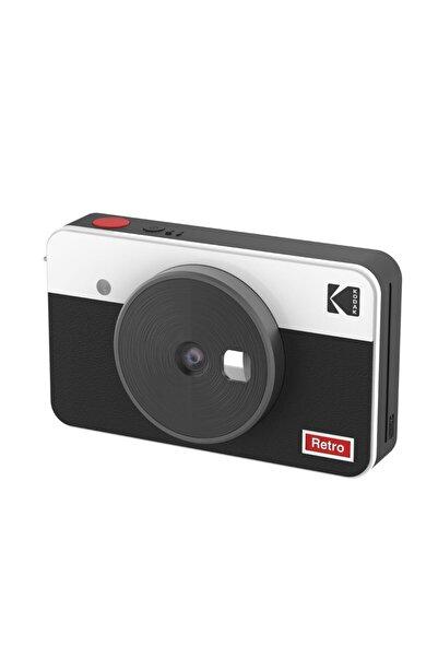Mini Shot Combo 2 Retro - Anında Baskı Dijital Fotoğraf Makinesi - Beyaz
