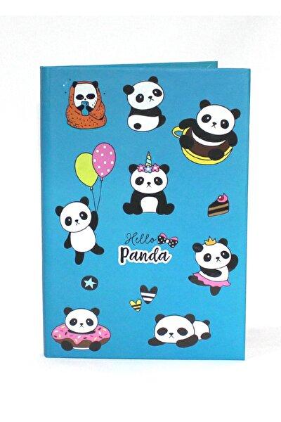 Sevimli Panda Baskılı Sert Kapaklı Ipli Çizgisiz 80 Yp Defter 13,5*19,5 Cm