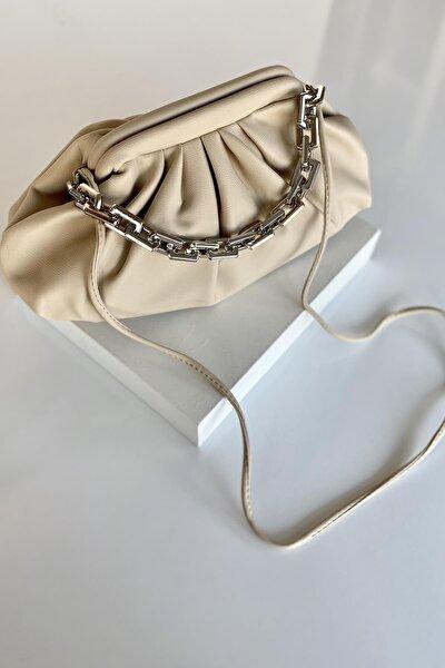 Kadın Bej Omuz Çanta İpli Askılı