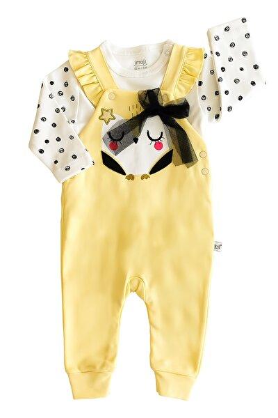 Bebek Sarı Kaliteli Star Owl 2'li Salopet Takım