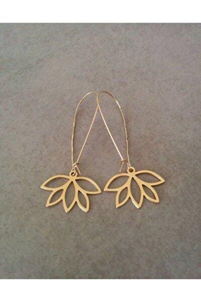 Lotus Çiçeği Gümüş Küpe