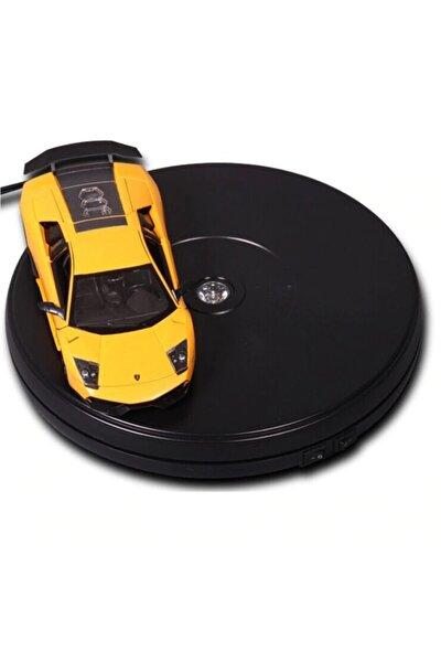 Ürün Çekimi Için 360 Derece Elektrikli Döner Tabla Turntable Siyah