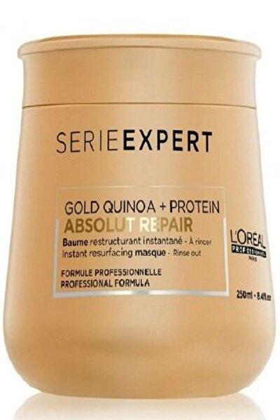 Yıpranmış Saçlar için Onarıcı Maske 250 ml - Absolut Repair Gold Quinoa+Protein Masque 3474636481774