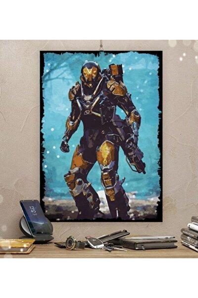 Anthem Gamer Tasarım 50x70 cm 8 mm Ahşap Tablo