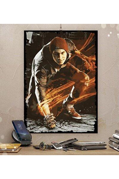 Infamous Gamer Tasarım Dekoratif Ahşap Tablo 50x70 cm 8 mm