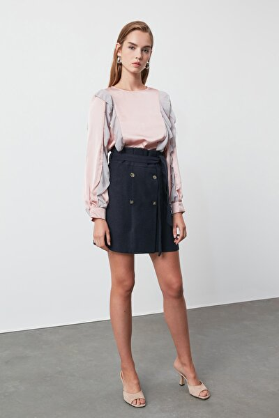 Lila Kol Detaylı Bluz TWOAW21BZ0347