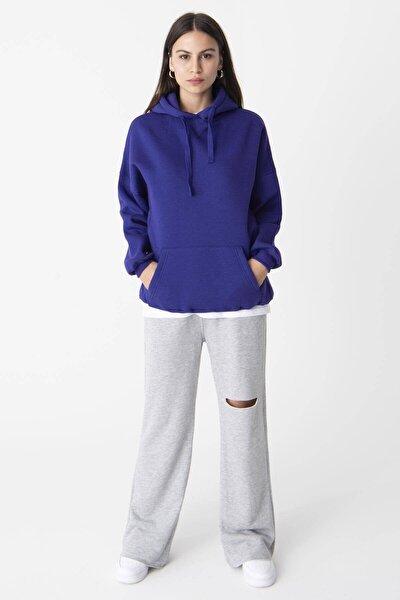 Kadın Menekşe Kapüşonlu Sweatshirt S0519 - H7 ADX-0000014040