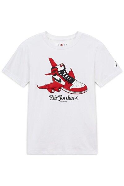 Nıke Jorden Aj1 Takeoff Çocuk Beyaz Tişört