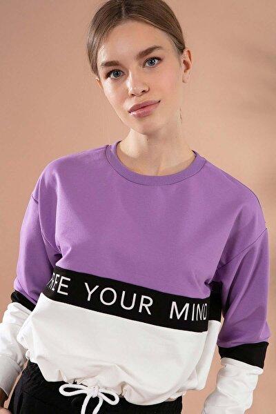 Kadın Beli Lastikli Crop Sweatshirt Y20w167-7631