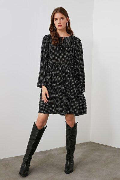 Siyah Desenli Elbise TWOAW21EL1258