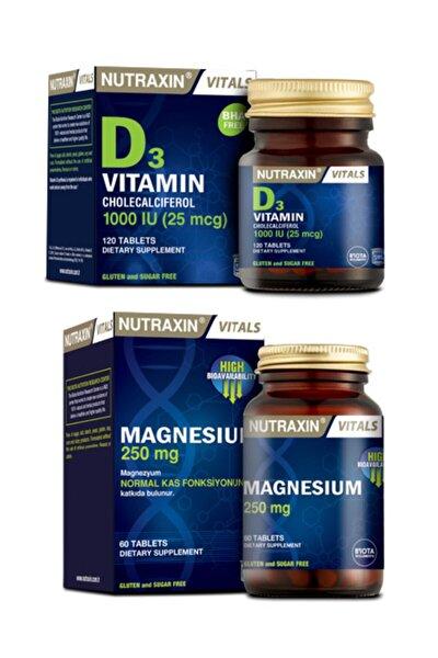 Magnesium Citrate | Magnezyum Takviyesi 60 Tablet + D3 Vitamini 120 Tablet