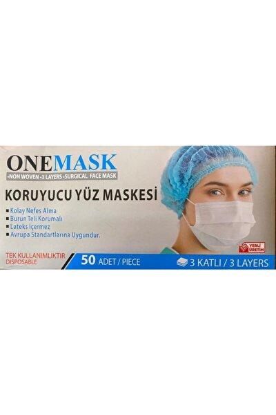 Onemask 3 Katlı Burun Telli Koruyucu Yüz Si