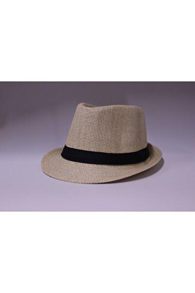 Unisex Taba Lüx Hasır Fötr Şapka