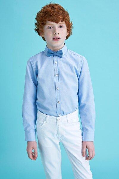 Erkek Çocuk Regular Fit Polo Yaka Uzun Kollu Oxford Uzun Kollu Gömlek M4523A620SPB